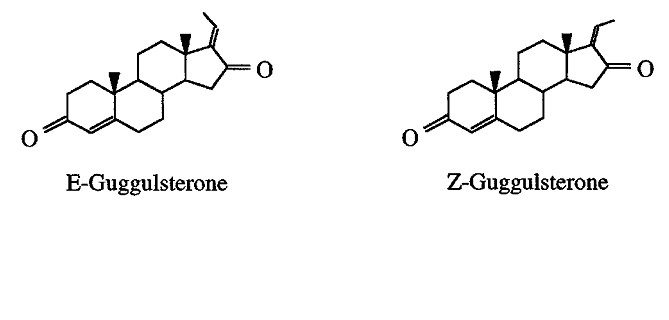 Structure of E&Z-guggulsterons (cis- and trans-4, 17(20)-pregnadiene-3, 16-dione)