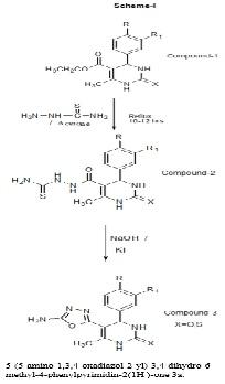 5-(5-amino-1,3,4-oxadiazol-2-yl)-3,4-dihydro-6- methyl-4-phenylpyrimidin-2(1H )-one 3a.