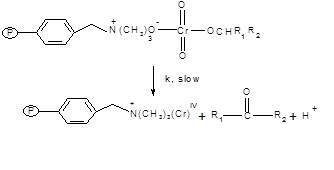 The  ester formed will decompose into ketone and the intermediate chromium  (IV) will  be formed in the second and slow step.