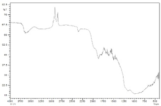 FT-IR spectra of alkali activated Fly Ash.
